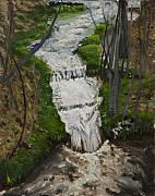 Colorado Mountain Stream Paintings - Spring Stream by Julie Kreutzer