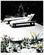 Chaise Digital Art Metal Prints - Spring Surprise Metal Print by Joseph Vittek