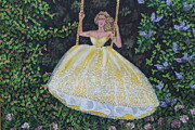 Ball Gown Painting Prints - Spring Swing Print by William Ohanlan