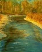 Haze Painting Originals - Spring Thaw by Julie Lueders