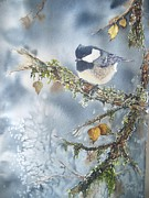 Bird On Tree Painting Prints - Spring Thaw Print by Patricia Pushaw