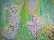 Fjord Paintings - Spring time Fairies by Judith Desrosiers