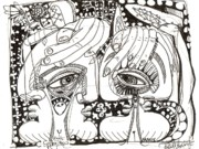 Surrealism Drawings - Spring Time by Robert Wolverton Jr