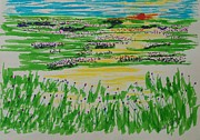 Spring Scenes Drawings - Spring  by Tom Nettles