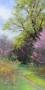 Plein Air Painting Posters - Spring Trail Poster by Anna Bain