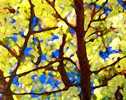 Landscape Digital Paintings - Spring Tree by Amy Vangsgard