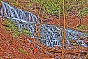 Pa State Parks Photos - Spring Waterfall by Adam Jewell
