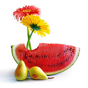 Tropical Fruits Prints - Spring Watermelon Print by Carlos Caetano