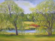 Alexandria Paintings - Spring Willows by Robert P Hedden