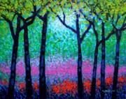 Spring Woodland Print by John  Nolan
