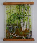Spring Glass Art - Spring woods by Eleanor Brownridge
