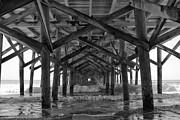 Springmaid Pier In Myrtle Beach South Carolina Print by Stephanie McDowell