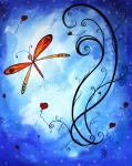 Abstract Hearts Paintings - SPRINGS SWEET SONG Original MADART Painting by Megan Duncanson