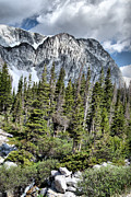 Rocky Mountains Drawings Prints - Springtime at Medicine Bow Peak Print by Nena Trapp