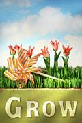 Springtime Fun Print by Sandra Cunningham