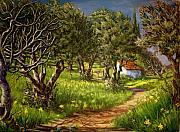 Yello Paintings - Springtime in Skiathos by Yvonne Ayoub