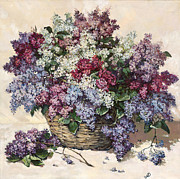 Posters On Paintings - Springtime Lilac by Irina Bakkenes