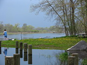 Flooding Photos - Springtime On The Fox River by Victoria Sheldon