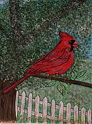 Kathy Marrs Chandler Art - Springtime Red Cardinal by Kathy Marrs Chandler