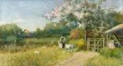 Path Painting Prints - Springtime Print by Sir Alfred East