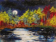Full Moon Pastels - Sprinkling of Moonlight by John  Williams