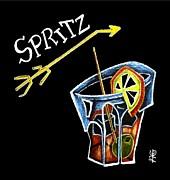 Spritz Aperol T-shirt Design Venice Italy - Venezia Veneto Italia Print by Arte Venezia
