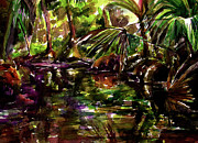 Palm Trees Fronds Originals - Spruce Creek   by Julianne Felton