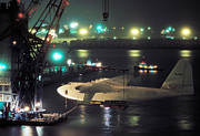 Spruce Goose Photos - Spruce Goose Hanging From Crane February 10 1982 by Brian Lockett