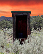 Bodie Out House Posters - Spruce Mountain Outhouse Poster by Lydia Warner Miller