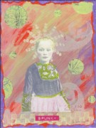 Young Girl Mixed Media Originals - Spunky Got Funky by Desiree Paquette