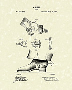 Western Art Drawings - Spur 1877 Patent Art by Prior Art Design