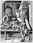 Metalworker Framed Prints - SPUR MAKER, 16th CENTURY Framed Print by Granger