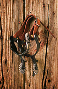 Leather Art - Spurs by Garry Gay