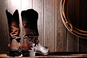 Riding Photos - Spurs on Cowboy Boots Heels by Olivier Le Queinec