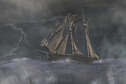 Seas Digital Art - Squall by Carol and Mike Werner
