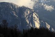 Squamish Framed Prints - Squamish Chief monolith  Framed Print by Pierre Leclerc