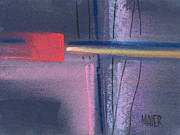 Artwork Pastels - Square Abstraction by Donald Maier