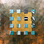 Structure Mixed Media - Square Ambience by Viaina