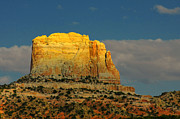 Mesas Photos - Square Butte - Navajo Nation near Kaibeto AZ by Christine Till