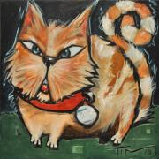 Stripped Paintings - Square Cat Two by Tim Nyberg
