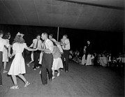 1950s Music Prints - Square Dance Team Dancing Print by Everett