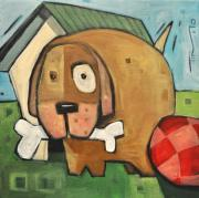 Doghouse Prints - Square Dog Print by Tim Nyberg