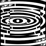 Optical Illusion Drawings - Square down the drain maze by Yonatan Frimer Maze Artist