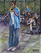 Trombone Painting Originals - Square Slide by Beverly Boulet