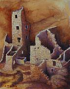 Pueblo Originals - Square Tower Ruins by Jerry McElroy