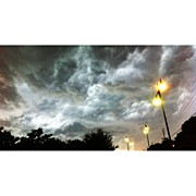 Storm Art - #squaready #storm #sky #up #clouds by Brian Adams