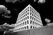 Rationalism Framed Prints - Squared Colosseum#1 Framed Print by Patrizio Cipollini