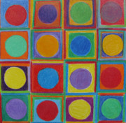 Multidimensional Framed Prints - Squares and Circles Framed Print by Patricia Januszkiewicz