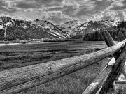 Black And White Photography Metal Prints - Squaw Valley USA Olympic Valley California Metal Print by Scott McGuire