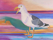 Carol Pastels - Squawking Gull Canvas Giclee Print by Carol Thompson